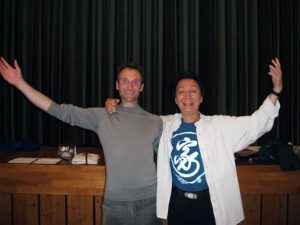 Chris with his teacher Chung-Liang Al Huang